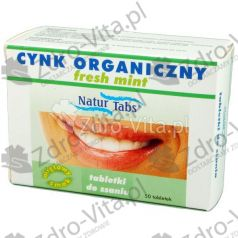 Cynk Organ.Naturtabs Fresh Mint,tabl,do ssan,50szt